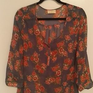 Beautiful rose flowered blouse